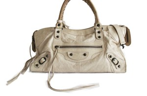 Balenciaga Part Time Tote Part Time City Tote Ivory Messenger Bag