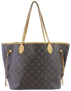 Louis Vuitton Damier Ebene Sac Shopping Neverfull Gm All-in Tote in Brown