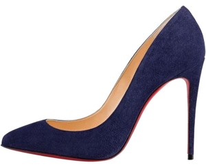 Christian Louboutin Stiletto China Blue Pigalle Follies 100 Suede Pumps Pumps