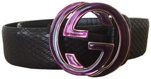 Gucci Rare Enamel Textured GG Belt