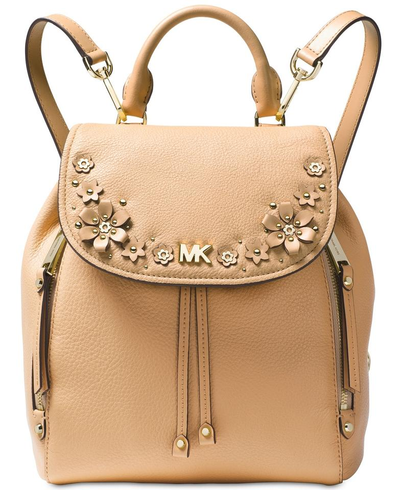 bc5205b9277b Michael Kors Evie Small Flower Garden Butternut/ Gold Leather ...