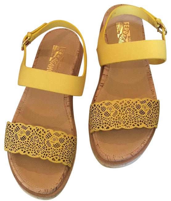 Item - Yellow Box Gianette Mimosa Calf 39 Once Worn Comes with and Dust Cover Sandals Size US 9 Regular (M, B)