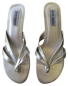 Steve Madden Strappy Silver Flats