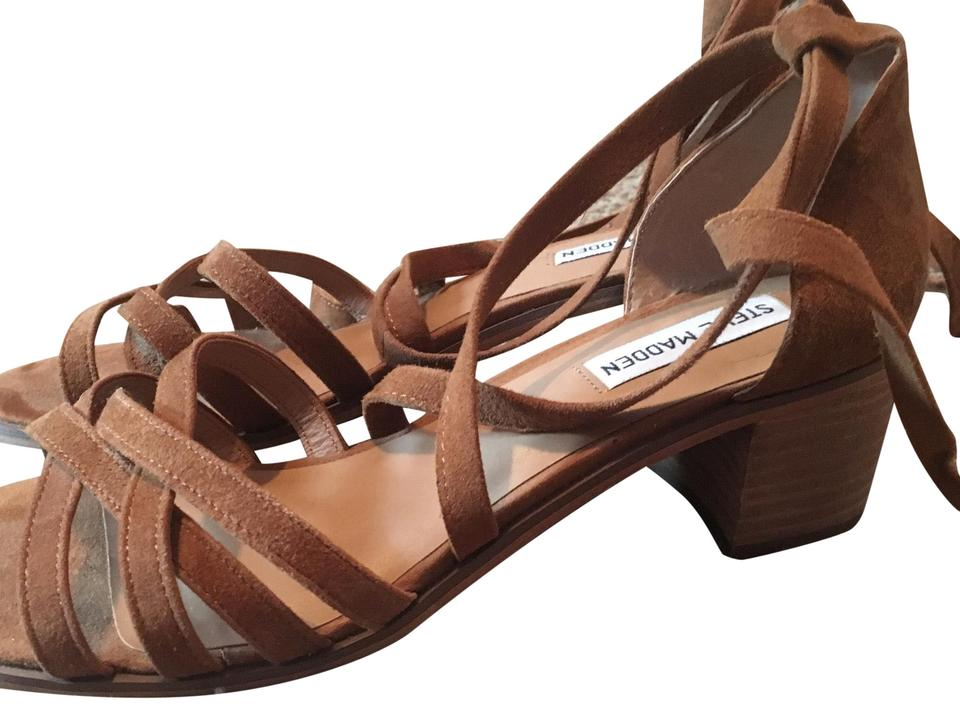 b2fee07d828 Steve Madden Brown Chunky Lace Up Heels Sandals Size US 9.5 Regular (M, B)  50% off retail
