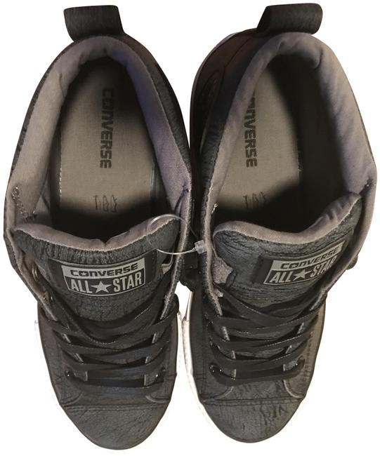 Item - Grey Leather All Star Sneakers Size US 6 Regular (M, B)