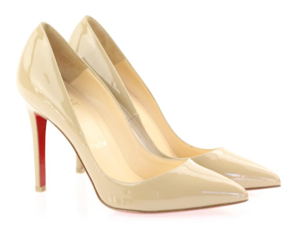 competitive price 6c148 8cf2f Christian Louboutin Beige Classic Pigalle 100mm Calf Patent Leather  Point-toe Pumps Size EU 37 (Approx. US 7) Regular (M, B)