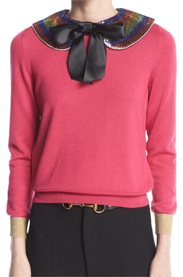 Gucci Cashmere Silk With Detachable Collar Pink Sweater Tradesy