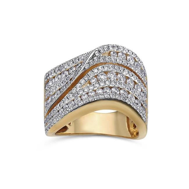 Ladies 18k Yellow Gold with 2.85 Ct Right Hand Ring Ladies 18k Yellow Gold with 2.85 Ct Right Hand Ring Image 1