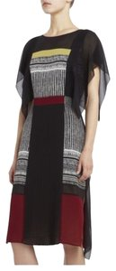 BCBGMAXAZRIA Silk Runway Color-blocking Limited Edition Dress