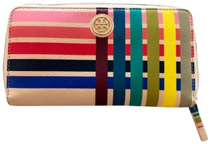 Tory Burch Multi-color - Gusset Zip Continental Leather Wallet