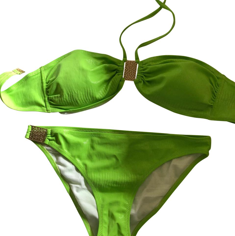 a446ec8827 NAILA Green Neon Never Worn Bikini Set Size 8 (M) - Tradesy