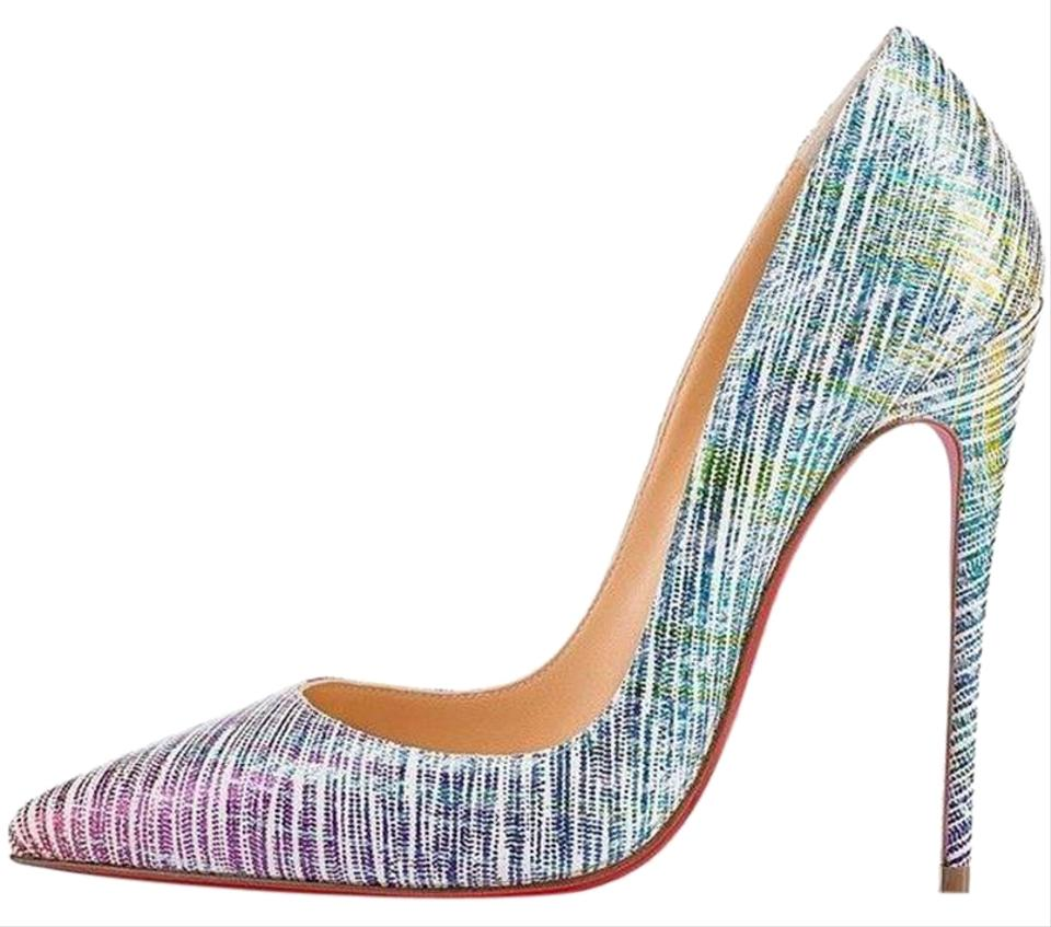buy popular 179e6 2cbe9 Christian Louboutin Multicolor So Kate 120 Suede Unicorn Textured Heel  Pumps Size EU 36 (Approx. US 6) Regular (M, B) 21% off retail