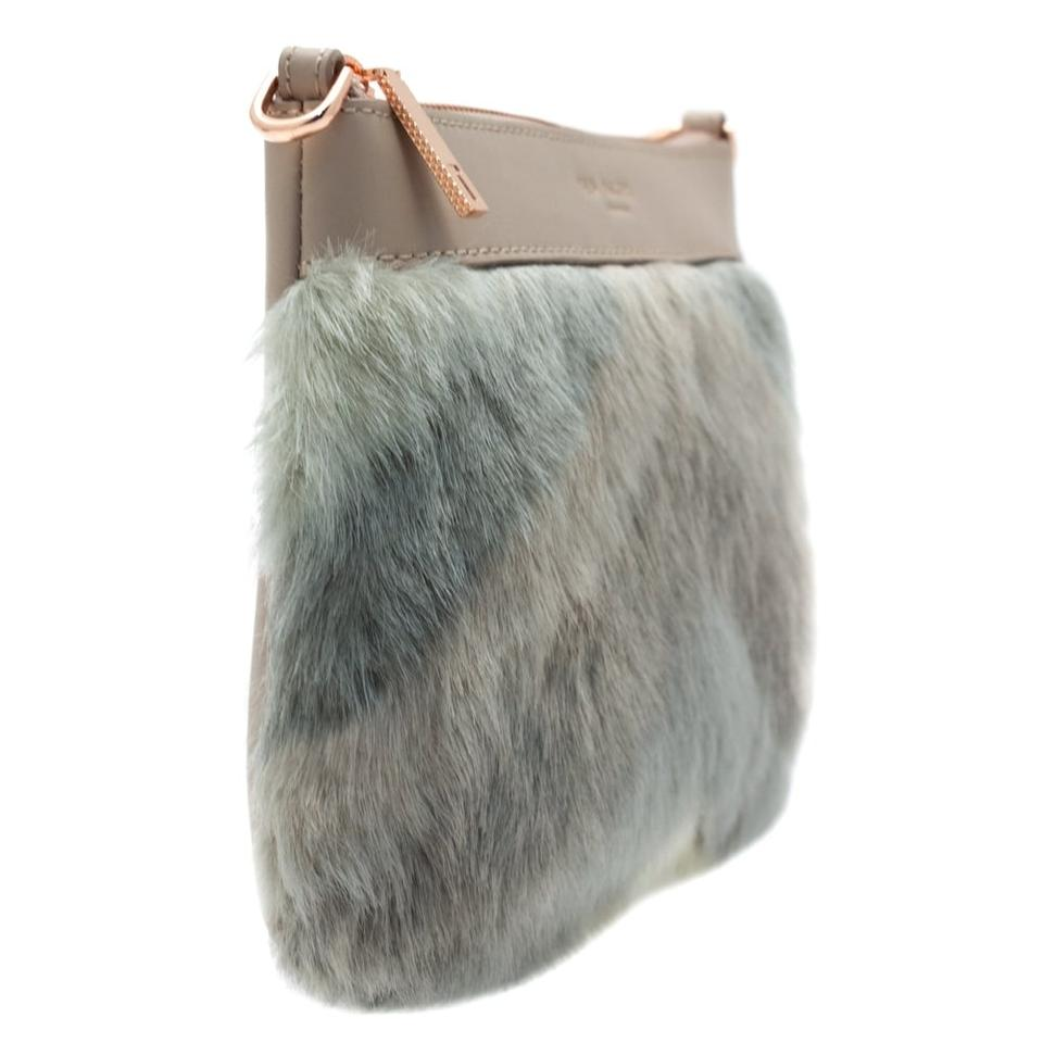 4fc9636ccfc7 Ted Baker Emmia Genuine Clutch Pink Multi Gray Brown Beige Leather ...