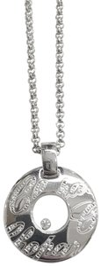 Chopard Chopard Chopardissimo 18k Floating Diamond Round Pendant Necklace