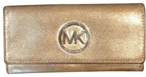 Michael Kors Gold Large Michael Kors Wallet