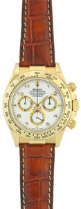 Rolex Rolex Daytaona Yellow Gold with Brown Leather Strap 116518