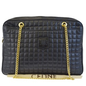 Céline Made In Italy Leather Shoulder Bag