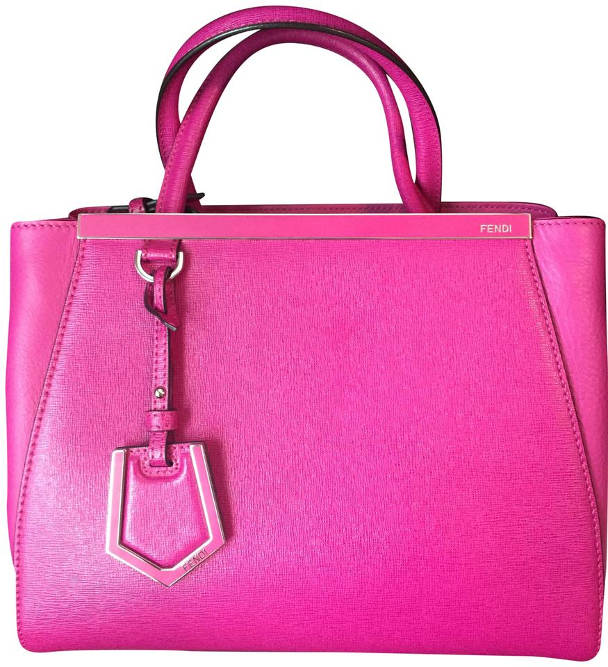d7675b1b302b Fendi Petite 2jours Raspberry Leather Satchel - Tradesy