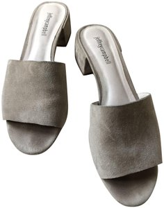 Jeffrey Campbell Suede Comfortable Date Night Night Out Grey Mules