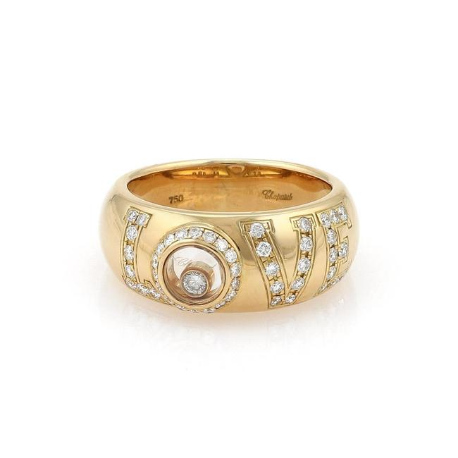Item - Happy Diamond 18k Yellow Gold Love Dome Band Size 5 Ring