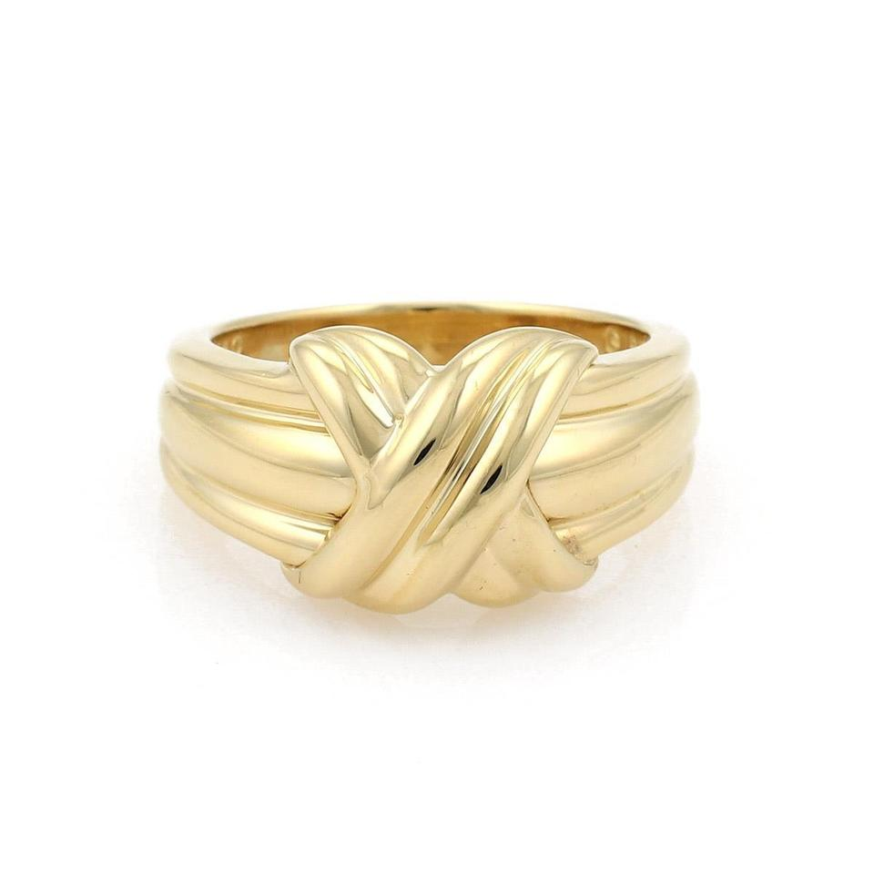 82f4d981e Tiffany & Co. 18k Yellow Gold X Crossover Grooved Ring - Tradesy