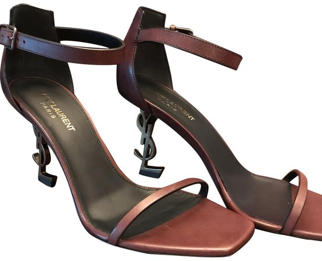 Item - Brown and Gold Opyum 85 Ysl Heel Formal Shoes Size EU 39.5 (Approx. US 9.5) Regular (M, B)