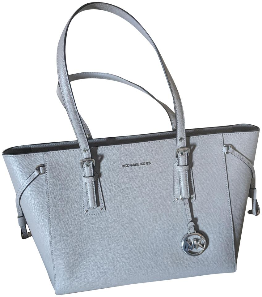 0936f691f8f6 Michael Kors Voyager Pearl Grey Leather Tote - Tradesy