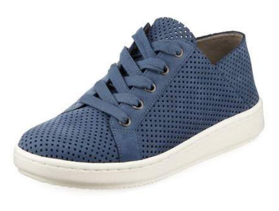 Eileen Lace up Leather Sneakers Sneakers Fisher Blue q1AqxnSO