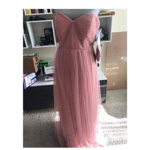 Jenny Yoo Begonia Pink Anabelle Convertible Tulle Gown Feminine Bridesmaid/Mob Dress Size 6 (S)