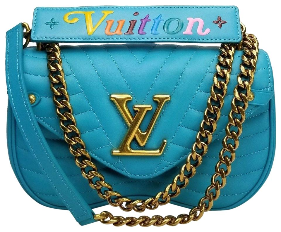 b0101e7ad630 Louis Vuitton New Wave Chain Pm Malibu Green Teal Leather Shoulder ...