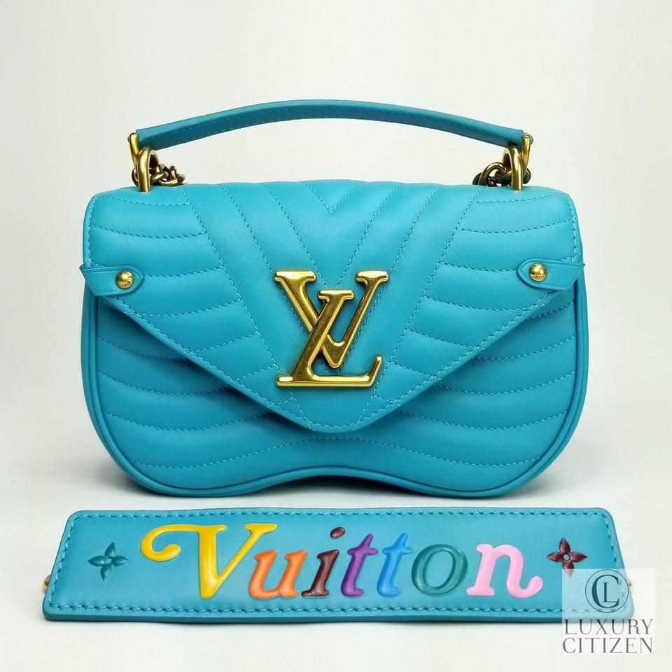 729f6cf82534 Louis Vuitton New Wave Chain Pm Malibu Green Teal Leather Shoulder Bag -  Tradesy