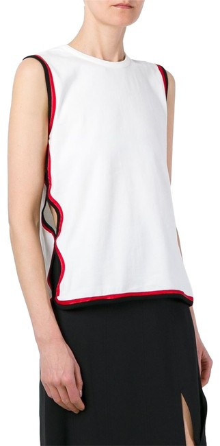 Opening Ceremony White Cutout Contrast-trim Stretch-cotton Tank Top/Cami Size 4 (S) Opening Ceremony White Cutout Contrast-trim Stretch-cotton Tank Top/Cami Size 4 (S) Image 1