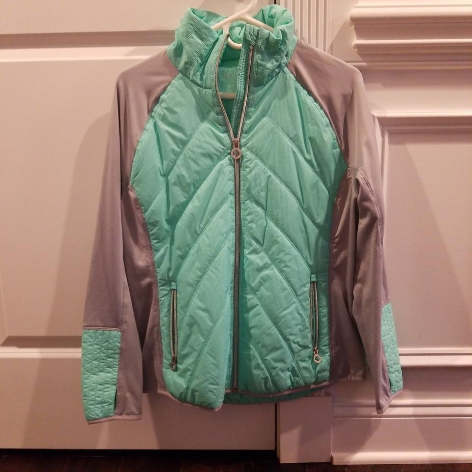 e73c8591a686f Calvin Klein Turquoise and Gray Activewear Outerwear Size 12 (L ...