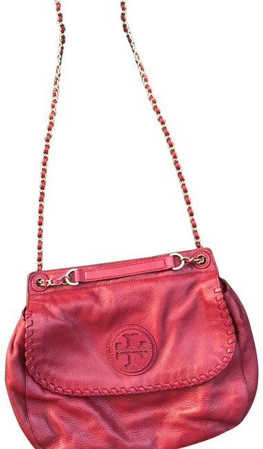 Item - Marion Saddle Red Leather Cross Body Bag