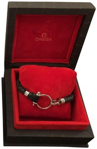 Omega Omega Aqua Bracelet - Black Leather - OB30STA0500205