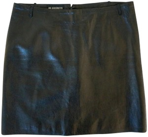 Ann Demeulemeester Minimalist Leather Mini Mini Skirt black