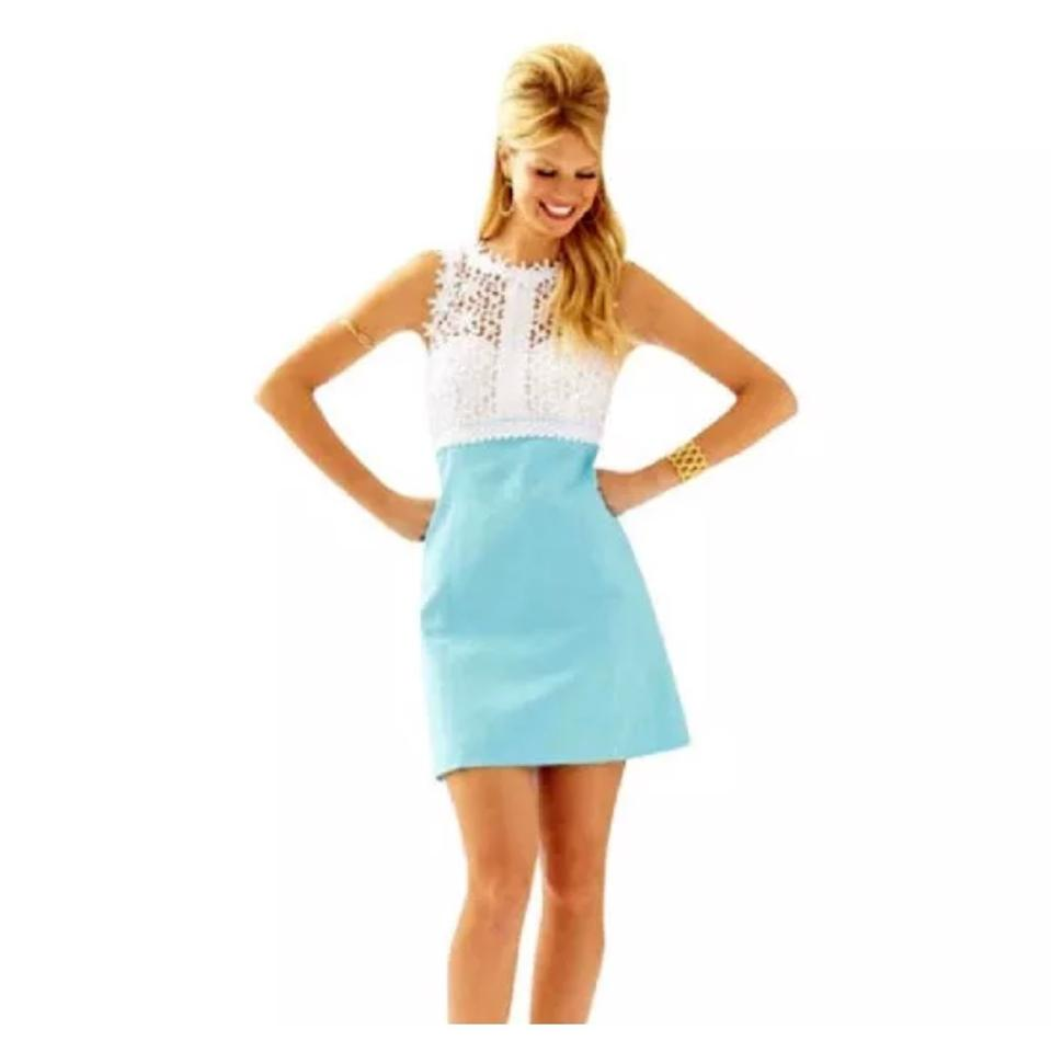 8c477db5039 Lilly Pulitzer Tiffany Blue Breakers 20795 Mid-length Cocktail Dress ...