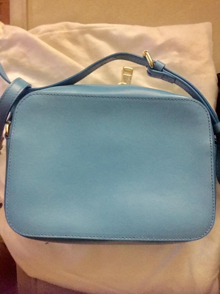 d93bafad24 Versace Sold Out Medusa Palazzo Blue Leather Cross Body Bag - Tradesy