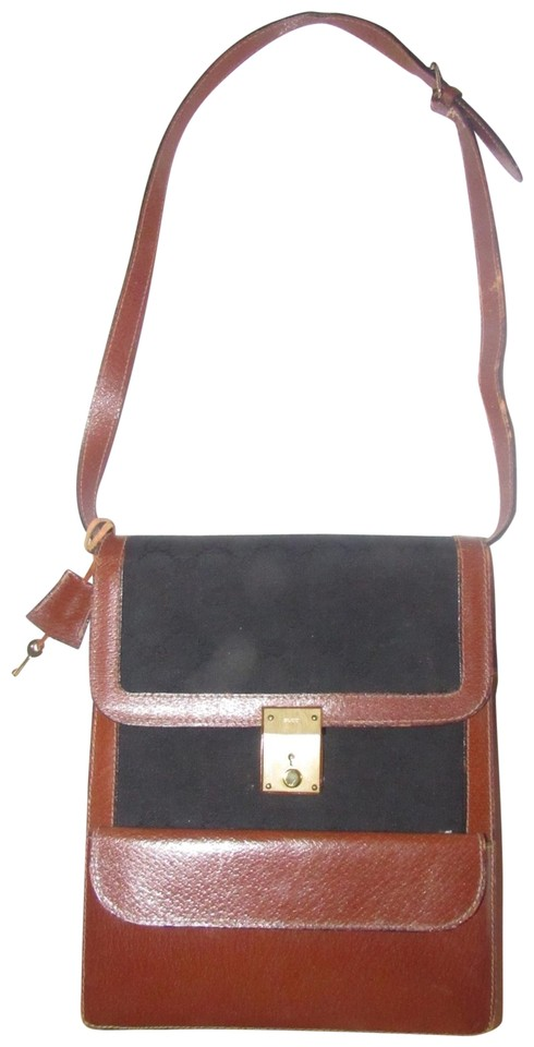 c629e4e0690 Gucci Multiple Compartment Great For Travel Mint Vintage Two Way Style Rare  Early black large G ...