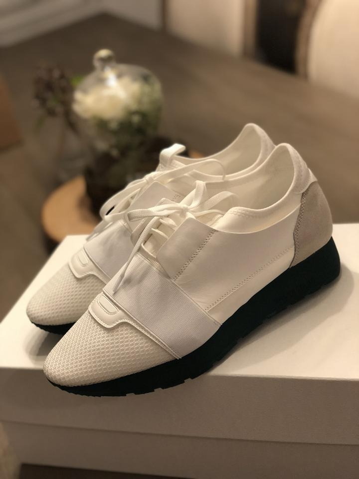 Runner Green Sneakers Race White Sneakers Balenciaga 8Yqng05T