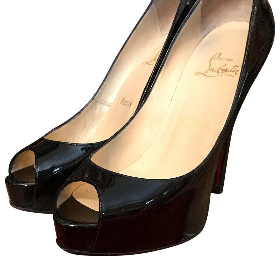 newest a68a4 3d0fe Christian Louboutin Black Patent Leather Very Prive 120mm Pumps Size EU  37.5 (Approx. US 7.5) Narrow (Aa, N) 60% off retail