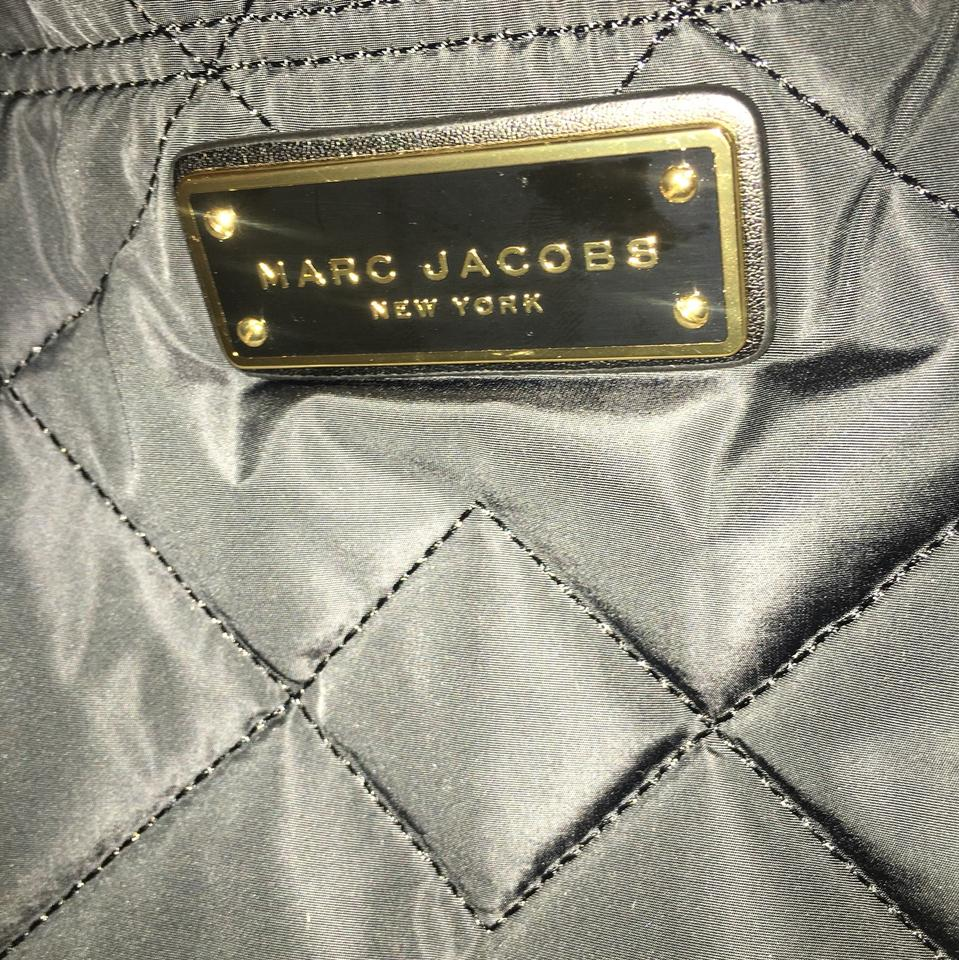 Marc Tote Jacobs Quilted Bag Black Shoulder Polyester wwqzEd