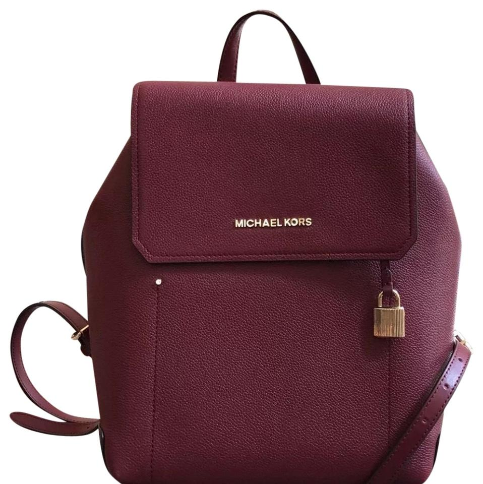 e2dd365a7ed9 Michael Kors Hayes Medium Size Mulberry  Ballet Leather Backpack ...