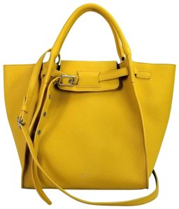 Céline Small Big Grain Leather Tote in Sunflower / Yellow