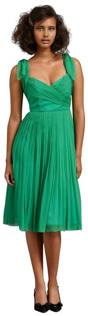 Item - Kelly Green Sway-and-swirl Mid-length Cocktail Dress Size 2 (XS)