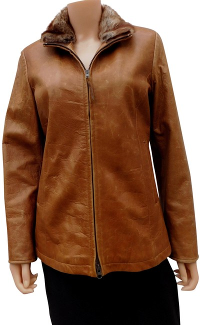 Preload https://img-static.tradesy.com/item/23767696/arrow-brown-distressed-coat-faux-fur-collar-cashmere-lining-jacket-size-6-s-0-1-650-650.jpg