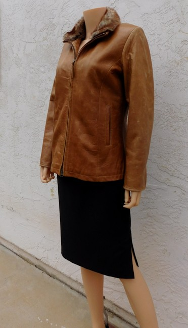 Overland Distressed Brown Leather Jacket Image 1