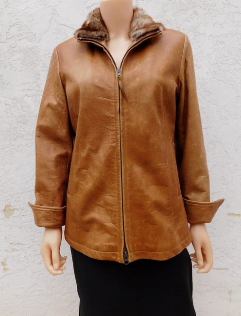Overland Distressed Brown Leather Jacket Image 10