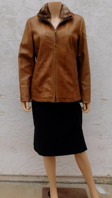 Overland Distressed Brown Leather Jacket Image 2