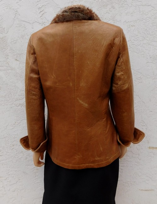 Overland Distressed Brown Leather Jacket Image 4